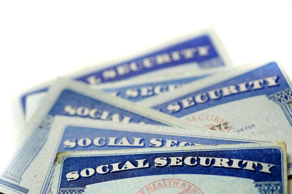 social security cards in a pile